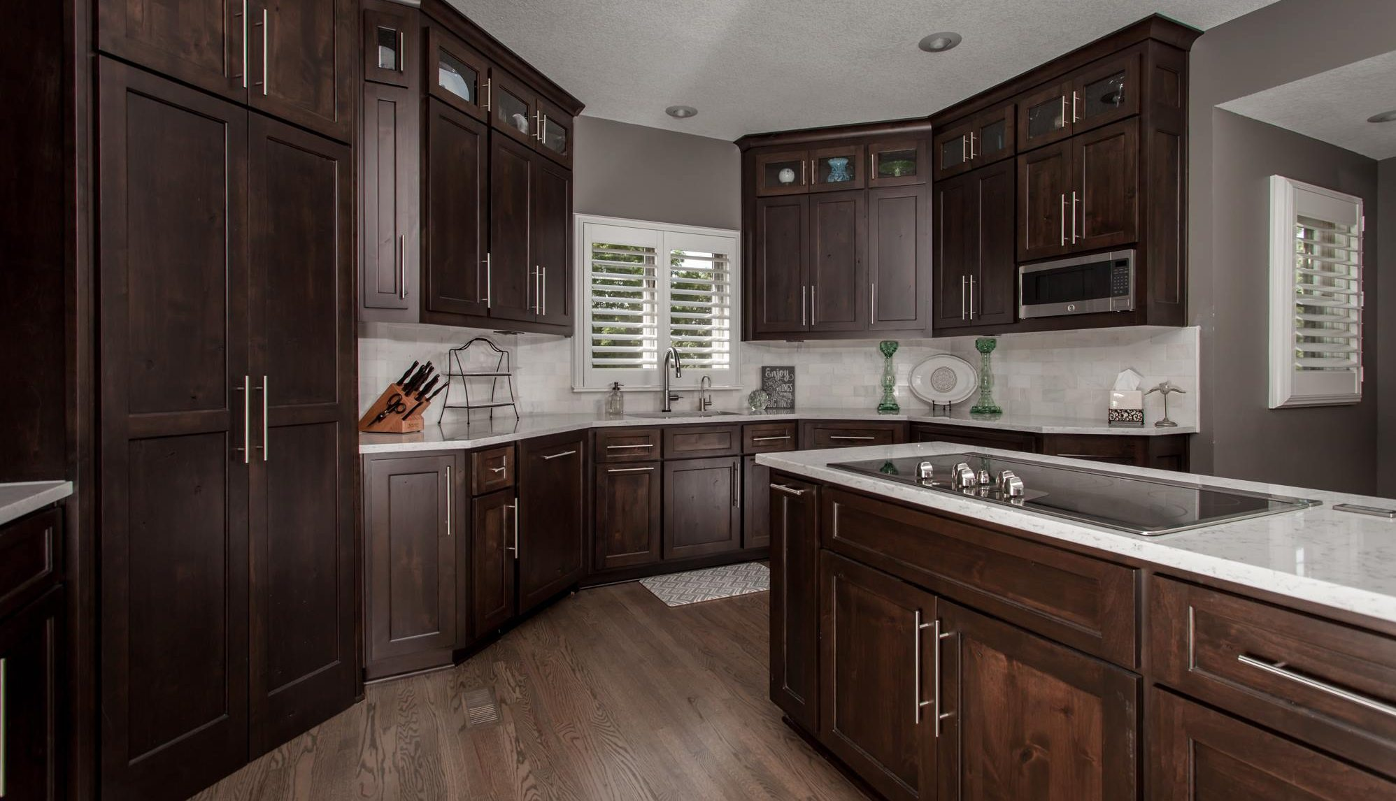 cabinets countertops island