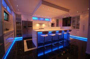 kc basement finish custom lighting